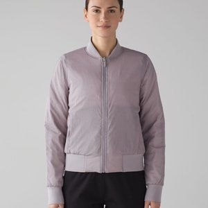 NWOT Lululemon Reversible Bomber Jacket Chrome 14